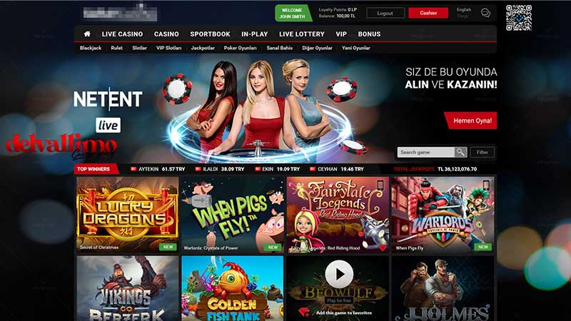 Tampilan Website Casino Online